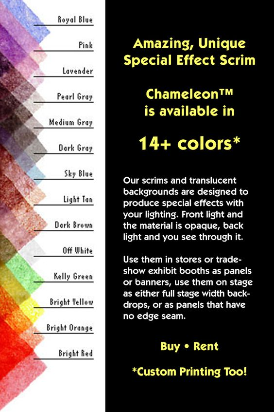 14 Colors of Chameleon™ Scrims