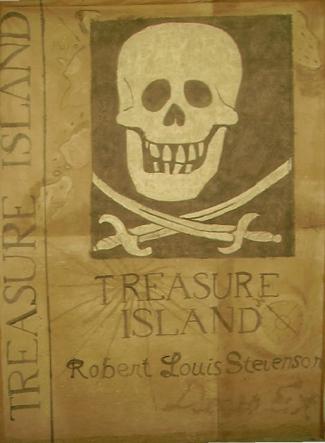 Marching Band Scrim from John Battle High School. Treasure Island Painted from Studio Productions.