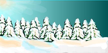 Snowscape scrim rental