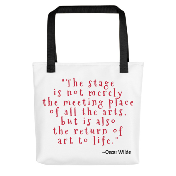 Oscar Wilde Quote Bag