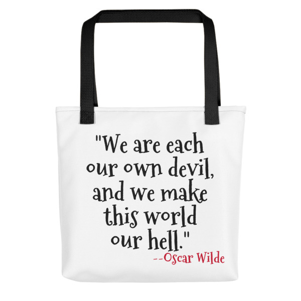 Quote About Hell Tote Bag